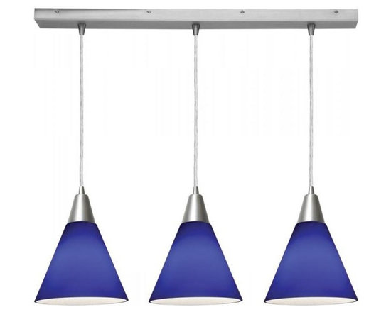 Access Lighting 52304-BS/COB Three Light Steel Island Light -