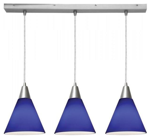 Kitchen Lighting Nyc: Access Lighting 52304-BS/COB Three Light Steel Island Light