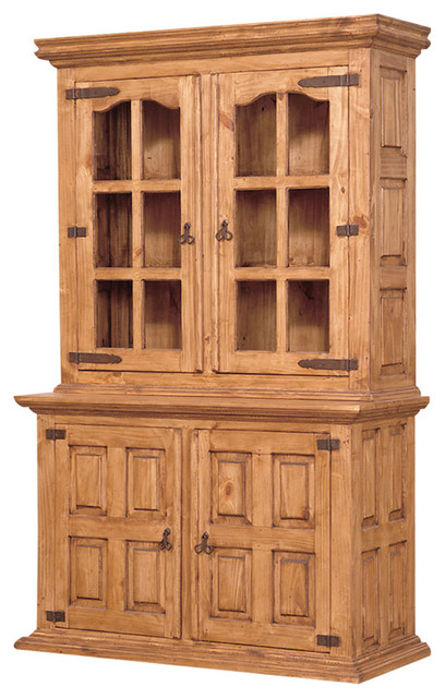Country Pine Hutch and Buffet - Farmhouse - China Cabinets And Hutches - by Tres Amigos ...