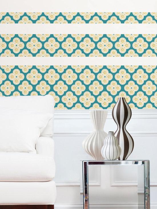 Elephant Paisley Stripe WallPops by Jonathan Adler Designer Wall Art -