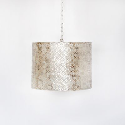 Shawn Inlaid Capiz Shell Pendant Light Fixture by Worlds Away eclectic-pendant-lighting