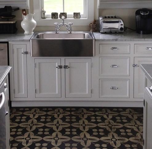 Flooring eclectic vinyl flooring boston by pura vida home decor - Decorative vinyl floor tiles ...