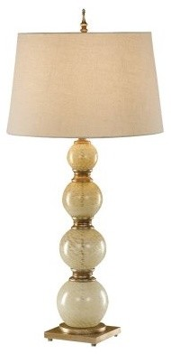 Murray Feiss Avery 9837CWG Table Lamp - 19 diam. in. - Cashmere Webbed Glass modern-table-lamps
