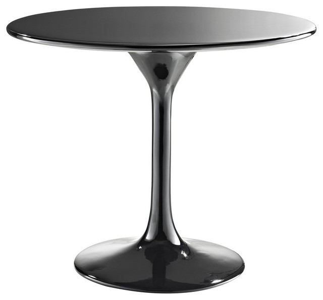 Mid Century Modern Round Side Table : Modern round black fiberglass side table Laholm midcentury-side-tables ...