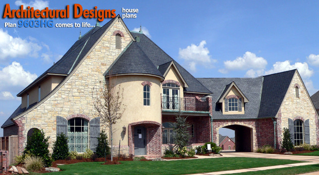 Architectural designs 4 bedroom european house plan 9603hg for House plans oklahoma city