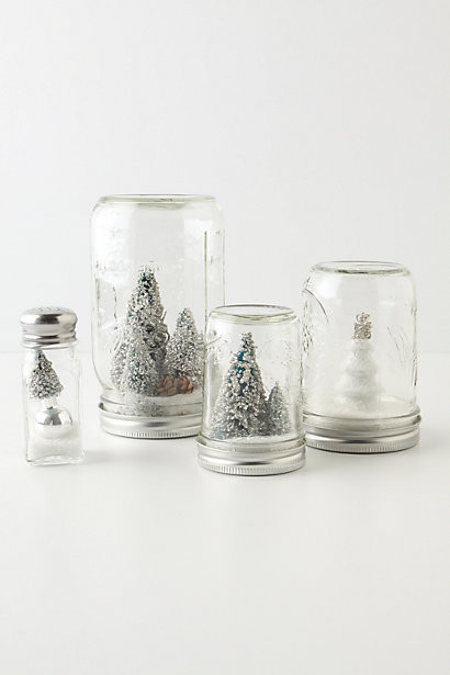 Mason Jar Snow Globe contemporary-holiday-decorations