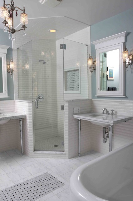 Vintage bathroom traditional bathroom chicago by for Small bathroom design houzz