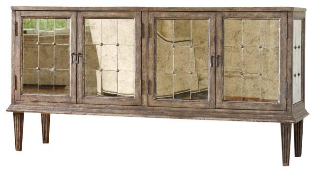 DeVera Mirrored Console contemporary-console-tables
