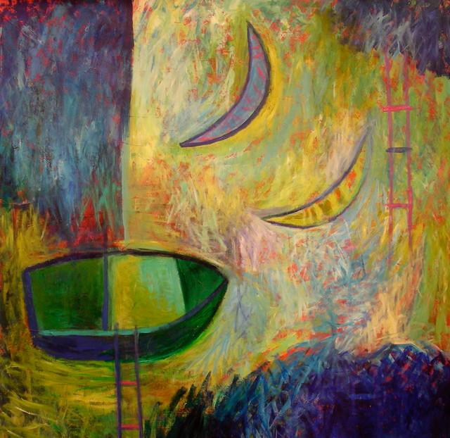 Art:: moon, lunar, celestial, nocturn, night artwork