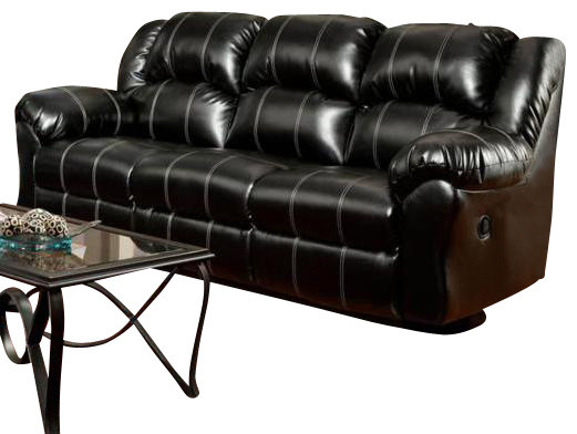 Chelsea Home Ambrose Reclining Sofa in Taos Black traditional-sofas