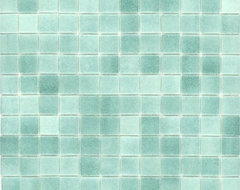 Elida Ceramica Recycled Mosaic Artic Green Glass Wall Tile modern bathroom tile