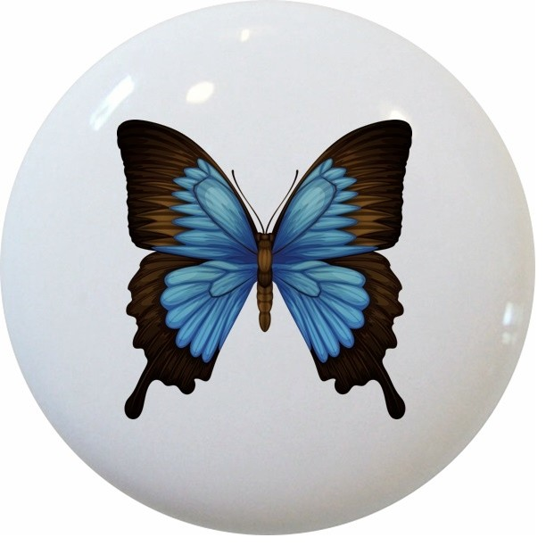 Blue Mountain Swallowtail Butterfly Knob - Traditional - Cabinet And Drawer Knobs - by Carolina ...