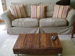 Recycled Pallet Factory Cart Coffee Table | Do It Yourself Home Projects from An
