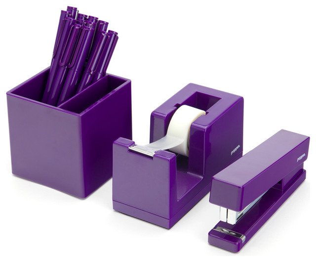 Starter Desk Set, Purple modern-desk-accessories