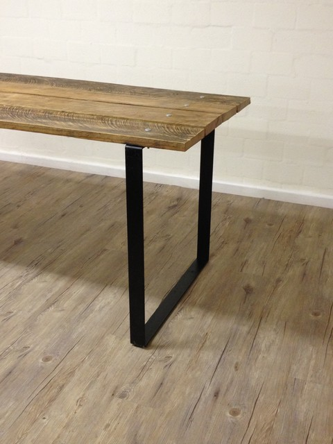 Square Table Legs : Reclaimed Wood Table w/ Steel Square Legs - Modern - Dining Tables ...