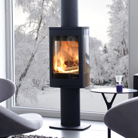 Nordepeis Duo 1Wood Burning Stove contemporary-freestanding-stoves