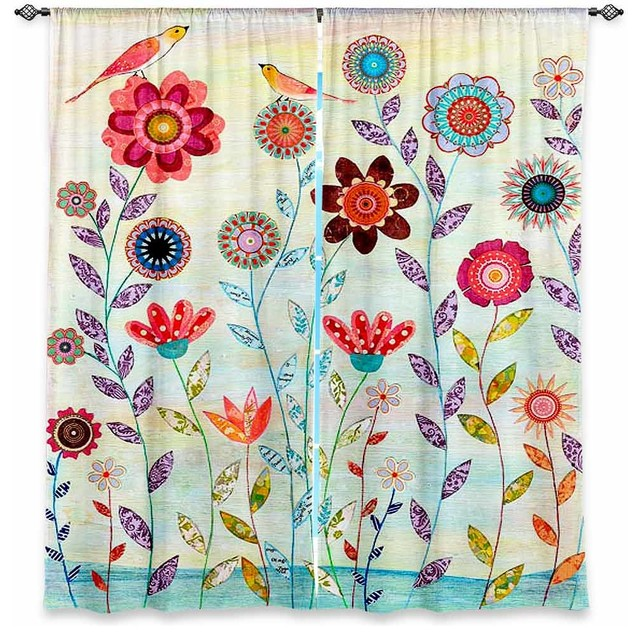 Window Curtains Lined by Sascalia Morning Hour contemporary-curtains