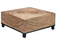 SOLD OUT! Fluid Woven Abaca Square Cocktail Table - $598 Est. Retail - $199 on C coffee-tables