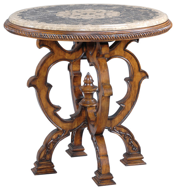Mosaic Table - Small traditional-side-tables-and-end-tables