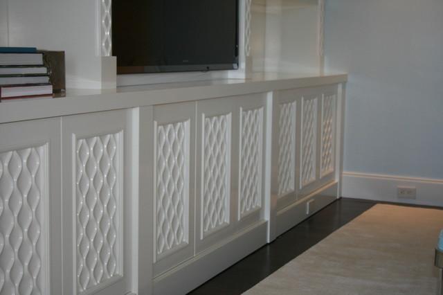 Custom White Entertainment Unit contemporary-furniture
