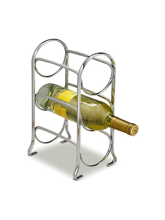 Axis 3-Bottle Chrome Wine Rack -