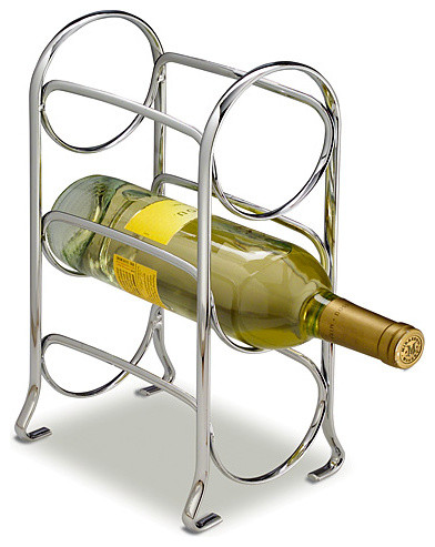 Axis 3-Bottle Chrome Wine Rack - Modern - Wine Racks - by Taylor Gifts
