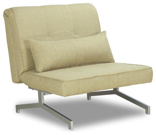 Cardini Uno Beige-Green Sleeper Chair modern-sofa-beds