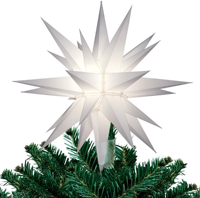 Lighted Star Christmas Tree Topper Traditional