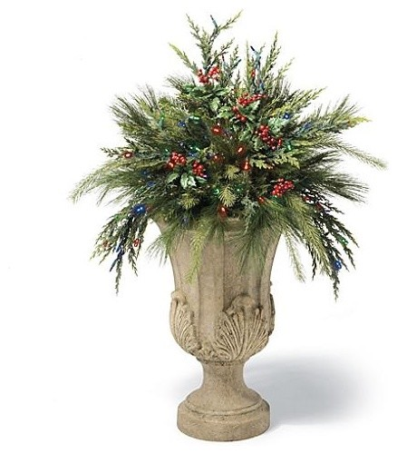 Cordless Urn Filler Christmas Decor - traditional - holiday