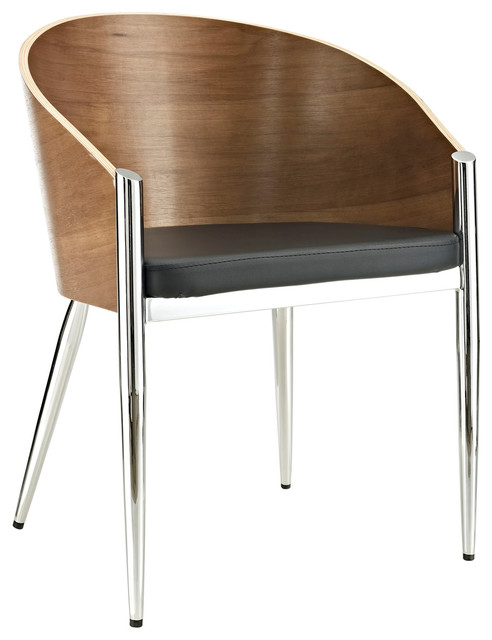 cooper dining armchair in silver modern dining chairs