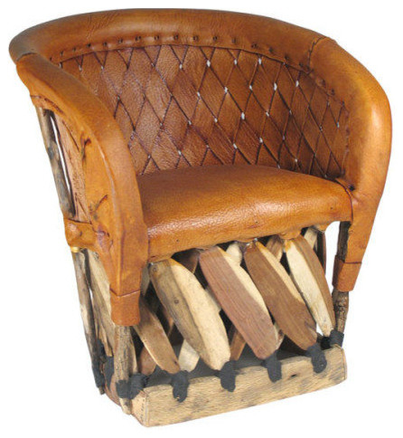 Equipal Barrel Chair Rustic Armchairs And Accent