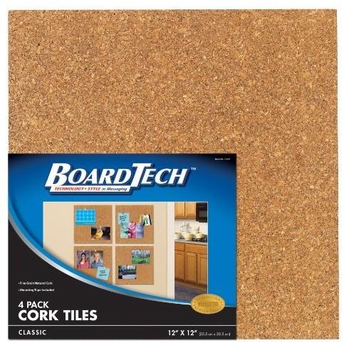 Cra z art classic cork tiles modern bulletin boards for Modern cork board