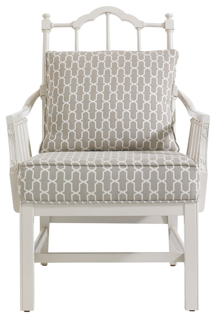 Charleston Regency Chippendale Planter's Chair - Ropemaker's White Finish traditional-chairs