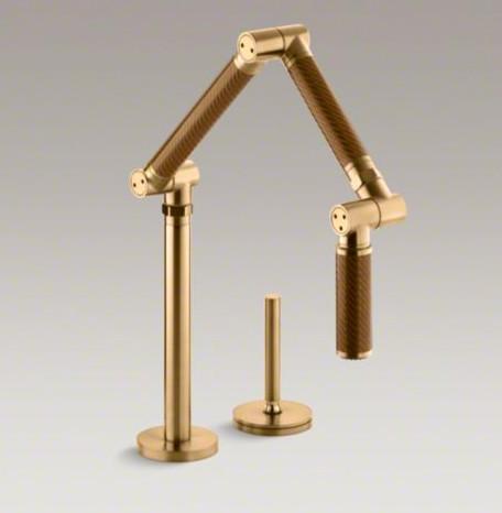Karbon Articulating Kitchen Sink Faucet with Sprayhead modern-kitchen-faucets
