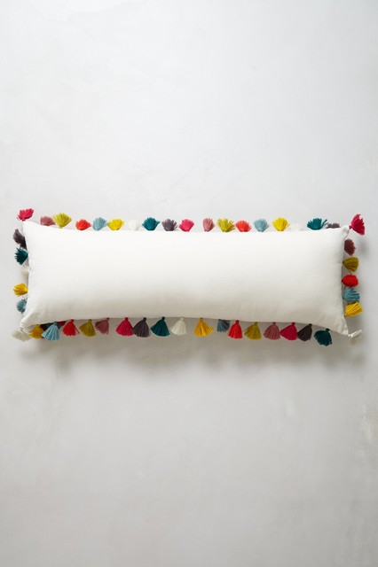 FIRENZE VELVET TASSEL PILLOW, MULTI   CONTEMPORARY   DECORATIVE PILLOWS    BY ANTHROPOLOGIE On The Hunt