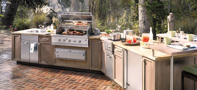 Modern outdoor grills for Viking outdoor kitchen