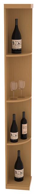 Quarter Round Wine Display in Pine, Oak and Satin Finish contemporary-wine-racks