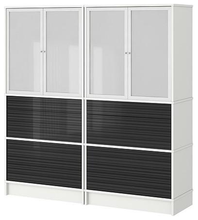 EFFEKTIV Storage combination w glass-doors - Modern - Storage Units And Cabinets - by IKEA