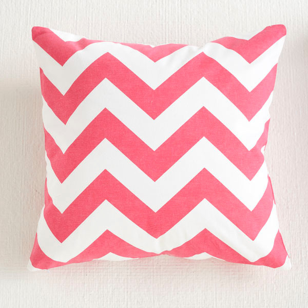 Chevron Pillow Cover - Pink eclectic-decorative-pillows
