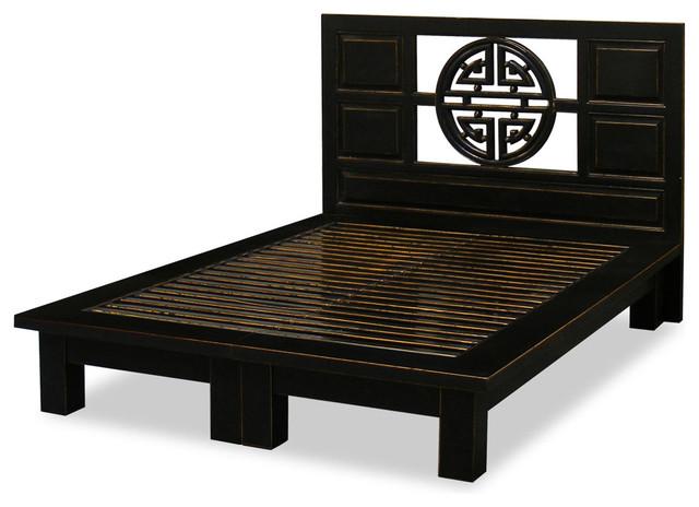 Elmwood Yuan-Yuan Queen Platform Bed - Asian - Beds - by China ...