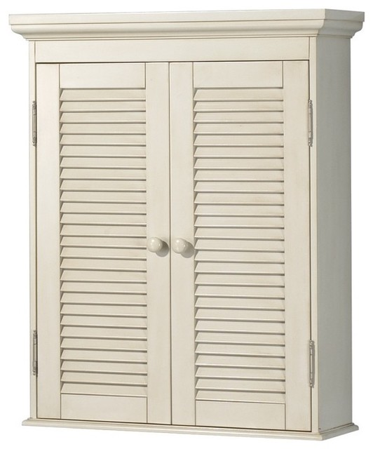 Foremost ctaw2429 cottage wall cabinet in antique white traditional bathroom cabinets and - Antique bathroom wall cabinets ...