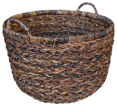 Threshold Alicia Round Storage Basket modern-baskets