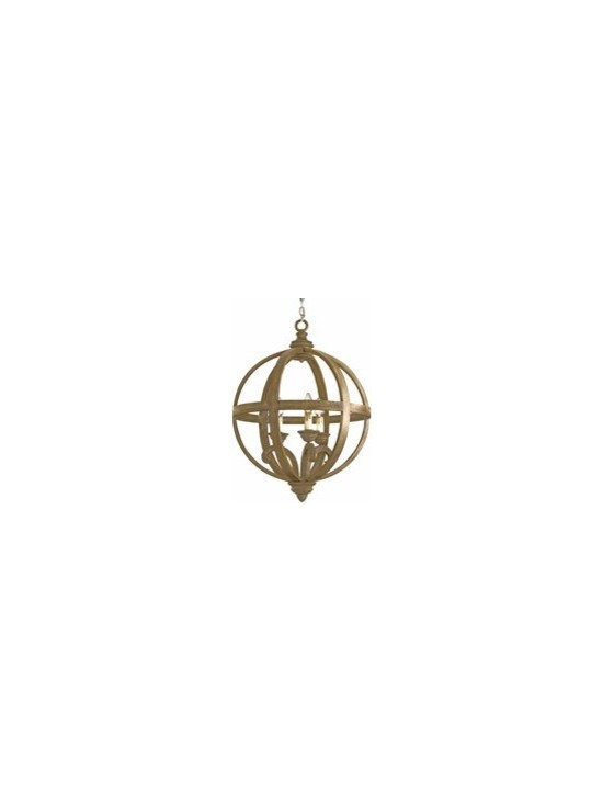 Currey and Company Axel Transitional Chandelier - Small - CNC-9133 - Currey and Company Axel Transitional Chandelier - Small - CNC-9133