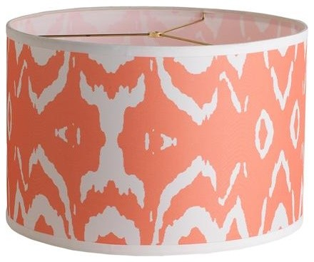 shade coral pink contemporary lamp shades by shades of light. Black Bedroom Furniture Sets. Home Design Ideas