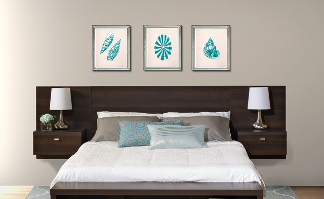 Floating headboard modern headboards vancouver by for Modern headboard diy