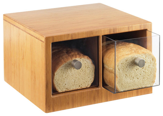 Bamboo Bread Bin Contemporary Bread Boxes by OMPBS