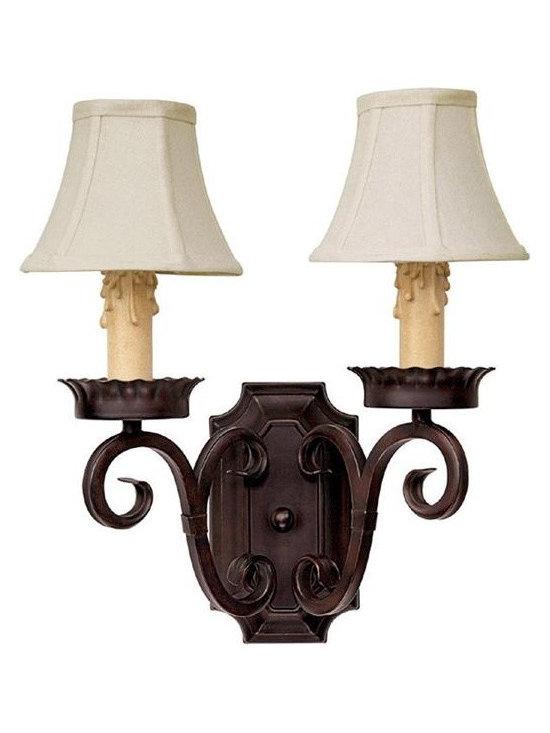 Capital Lighting 3482MBZ-409 Two Light Bronze Wall Light -
