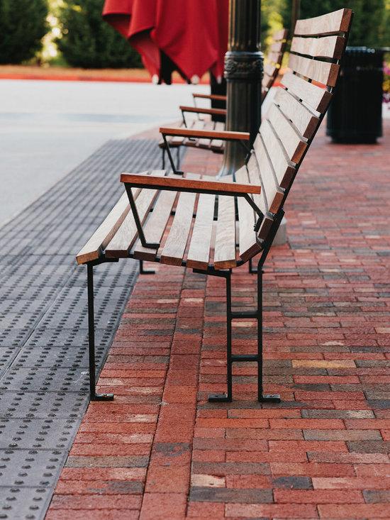 Skylar Morgan Furniture + Design - Outdoor Benches - IPE + steel bench