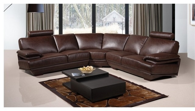 8380 Brown Bonded Leather Sectional Sofa transitional-sofas