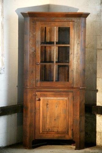 Corner Cabinet With Glass Door rustic-dressers-chests-and-bedroom ...